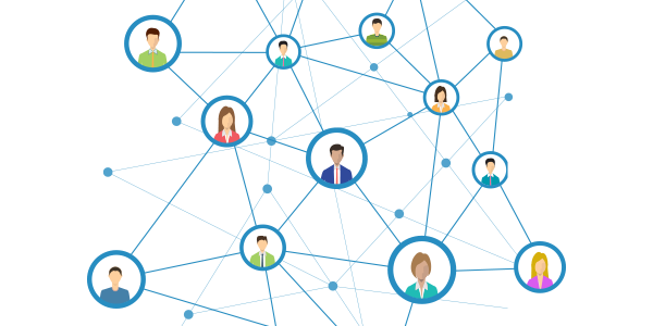 People in a network